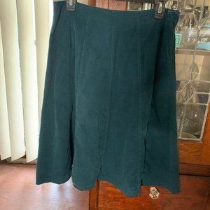 Style & Co Teal Flair Corduroy Skirt